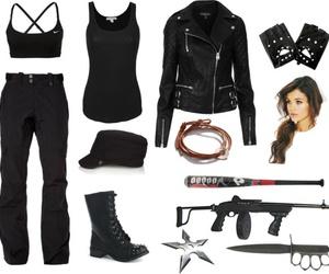 fashion, survival, and zombie apocalypse image