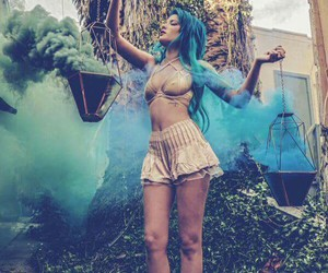 halsey and blue hair image