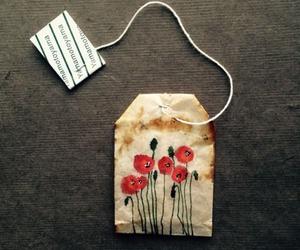 tea, flowers, and art image