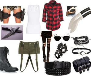 fashion, survival, and weapons image