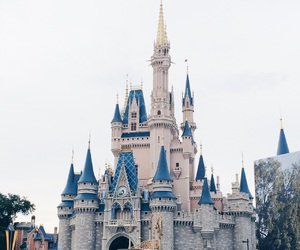 castle, cinderella, and disney image