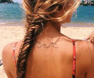 beach, braid, and tropical image
