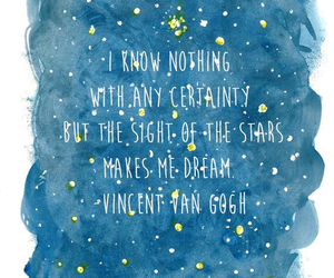 quotes, stars, and vincent van gogh image
