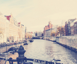 city, photography, and canal image