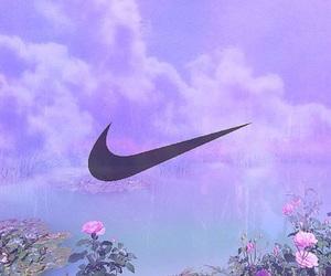 flower, nike, and purple image