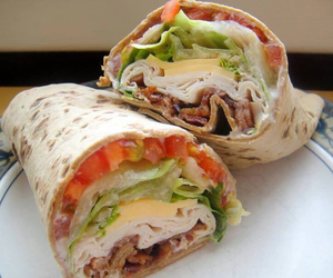 wrap, food, and healthy image