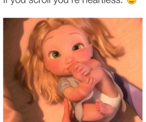 baby, tangled, and cute image