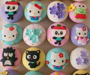 cupcake, hello kitty, and sweet image