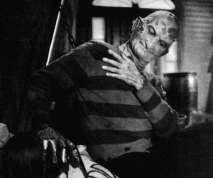 Freddy, black and white, and horror image