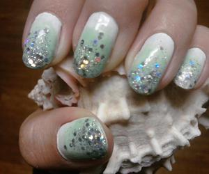 glitter, gradient, and nails image