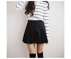 black skirt, cool, and fashion image