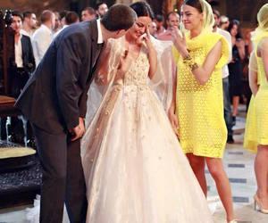 boy, bride, and cry image