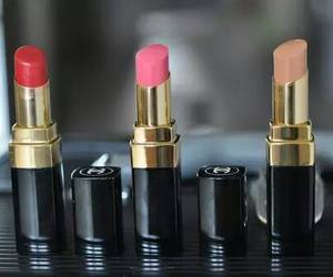lipstick, girl, and fashion image