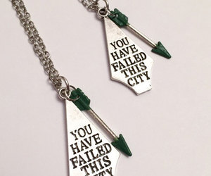 arrow, necklace, and green image