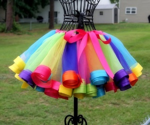 colors, dress, and skirt image