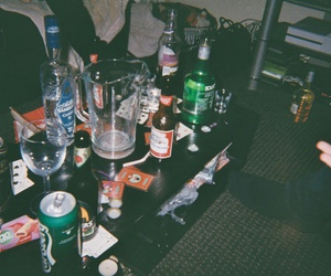 alcohol, night, and friends image