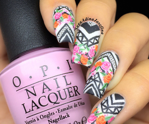 aztec, flowers, and girly image