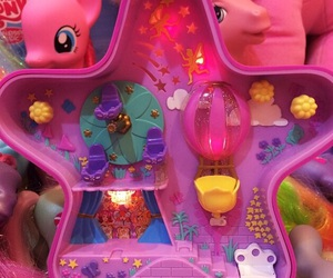 pink, polly pocket, and star image