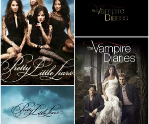 pll, the vampire diaries, and pretty little liars image