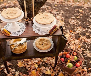 apples, pies, and autumn image