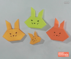 shorttutorials, origami, and paper bunny image