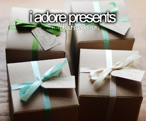 presents, adore, and gift image