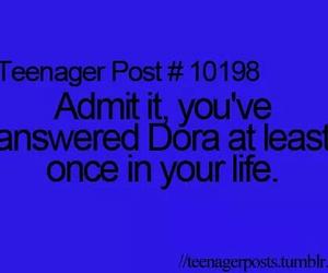 teenager post, Dora, and teenager image