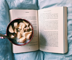 book, food, and breakfast image