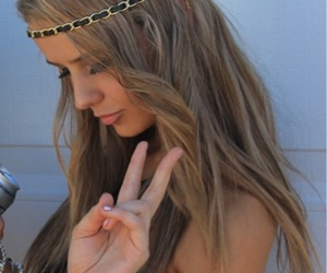 girl, hair, and peace image