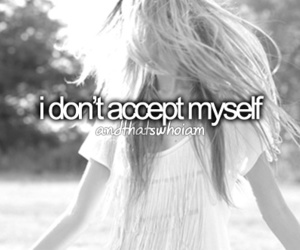 girl, accept, and me image
