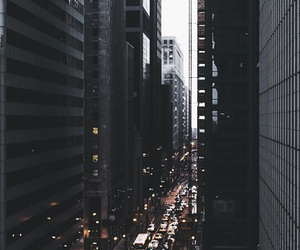 city, black, and building image