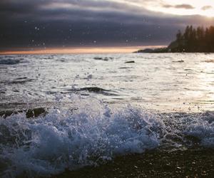sea, nature, and beach image