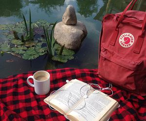 red, book, and aesthetic image