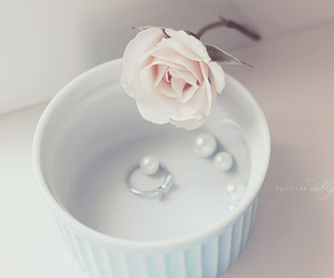 flowers, pastel, and pearls image