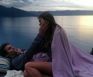 couple, Hot, and sea image