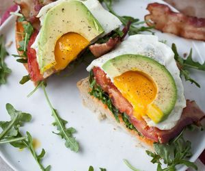 food, avocado, and egg image
