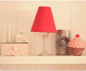 cupcake, home, and lamp image