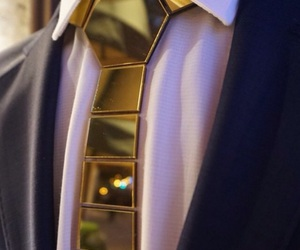 boy, gold, and tie image