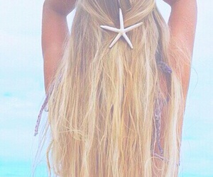 blonde, starfish, and summer image