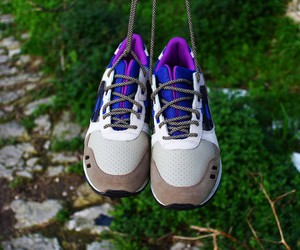 asics, brown, and purple image