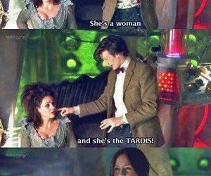 doctor who, tardis, and karen gillan image