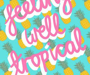 tropical, pineapple, and wallpaper image