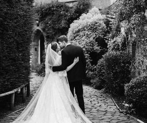 kiss, wedding, and love image