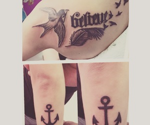ambigram, anchor, and believe image