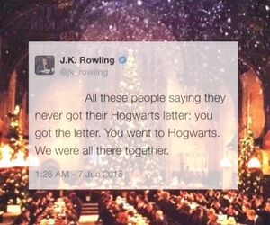 harry potter, hogwarts, and jk rowling image