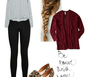 be brave, cardigan, and fashion image