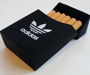 adidas, cigarettes, and black image