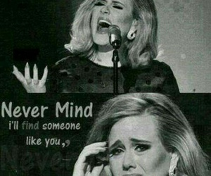 Adele, music, and sad image