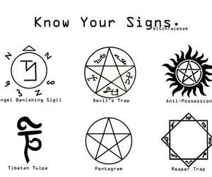 supernatural, sign, and pentagram image