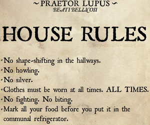 werewolves, tmi, and house rules image